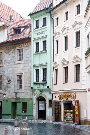 Most narrow hotel in Prague, the Clementin