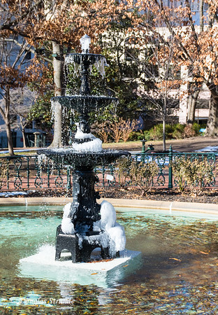 Icy Fountain on Capitol Grounds