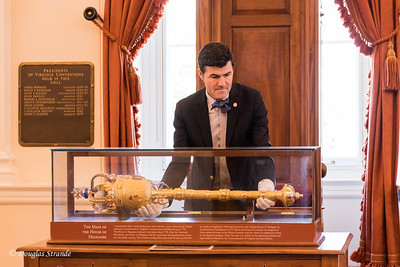 Sergeant at Arms holds Mace