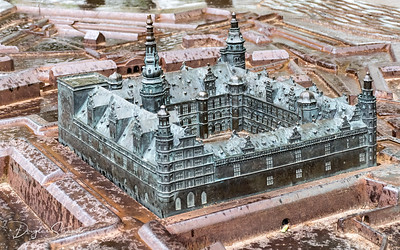 Kronborg Castle, scale model