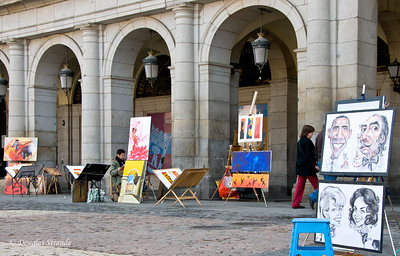 Mon 3/07 in Madrid: Artists in Plaza Mayor