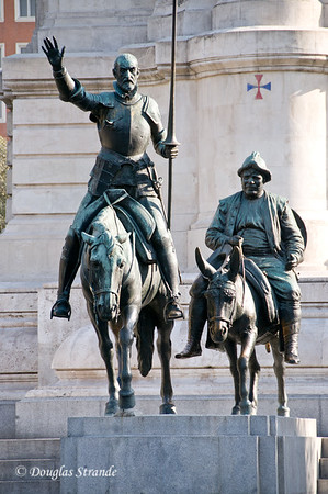 Tue 3/08 in Madrid: Don Quixote and Sancho Panza