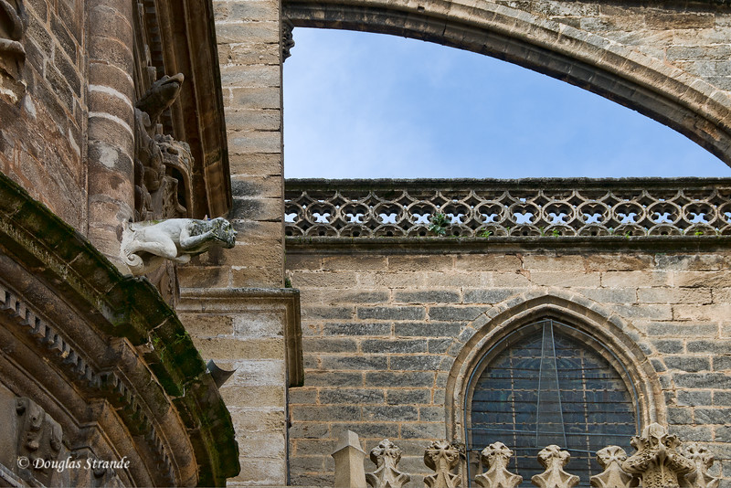 Tue 3/15 in Seville: Gargoyles on the Cathedral of Seville
