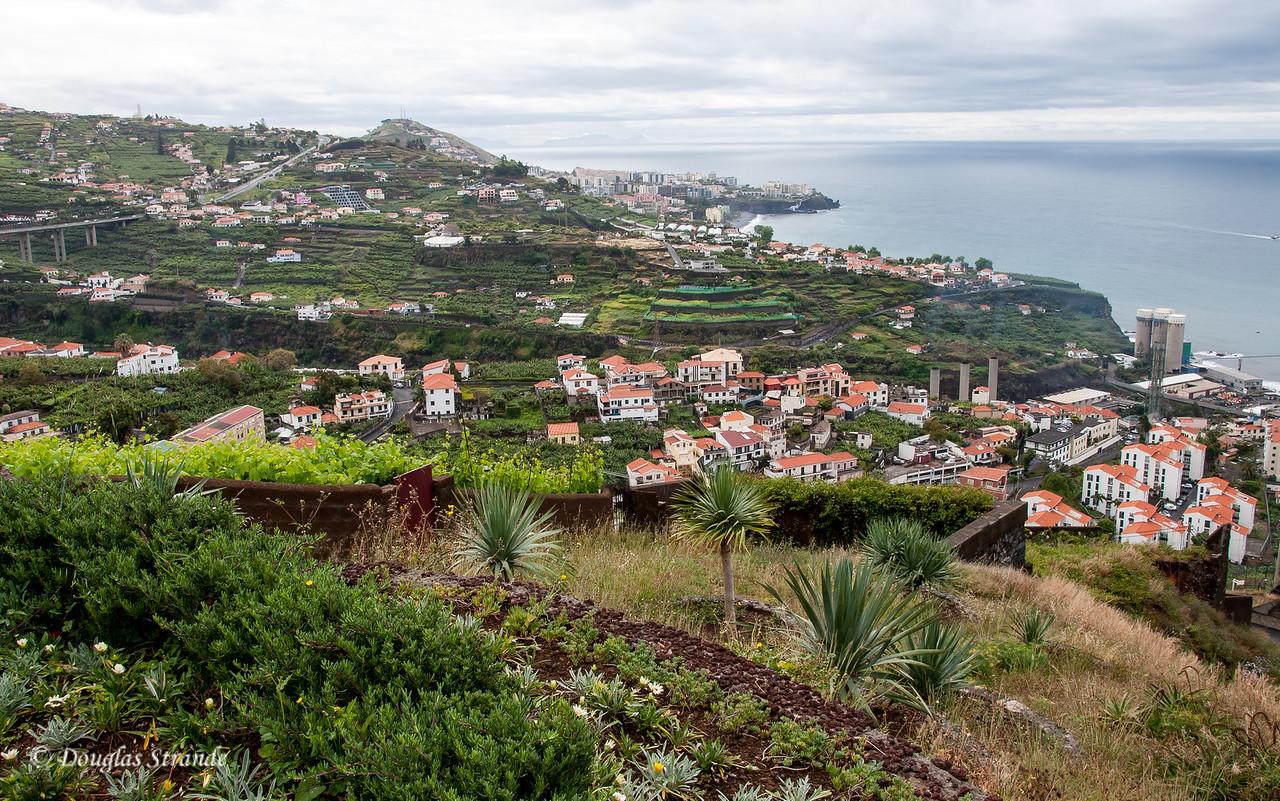 Island of Madeira - looking Southeast, the Ilhas Desertas are on the horizon