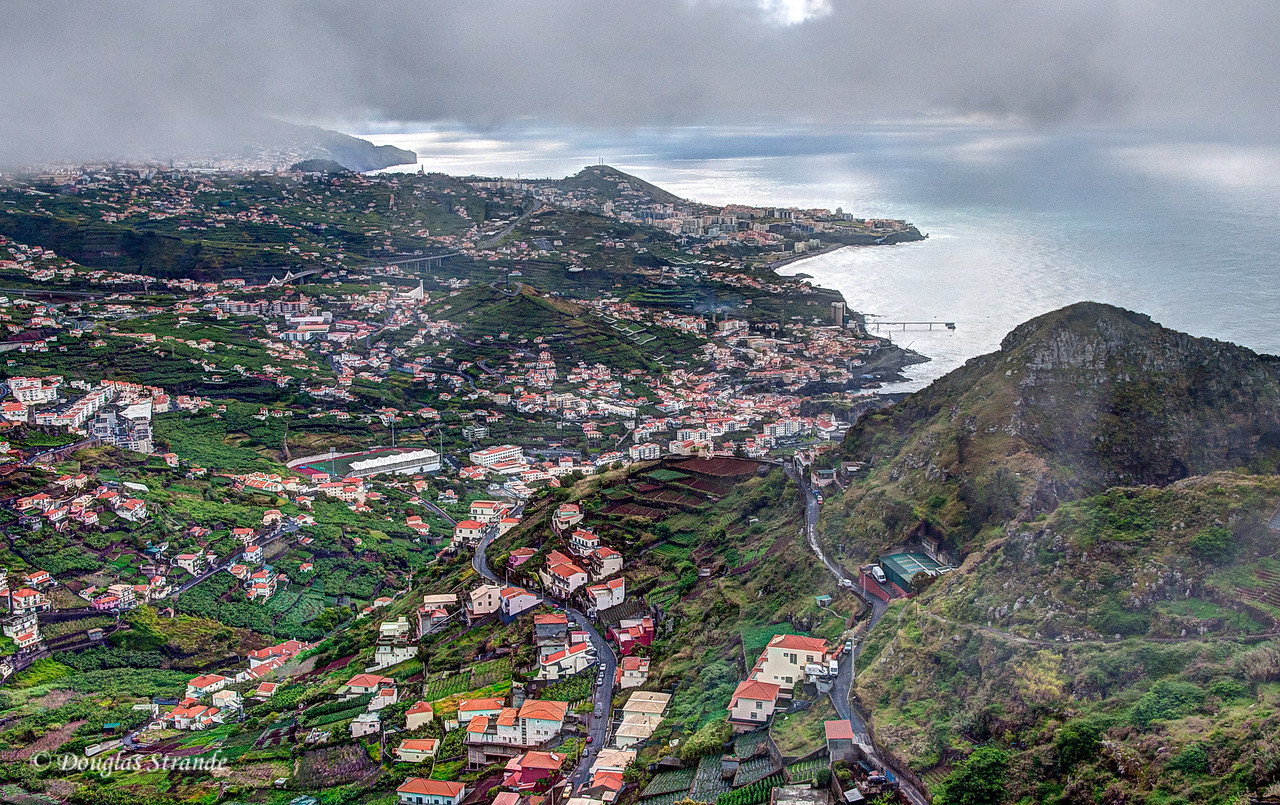 Island of Madeira - Southeast costline in the patchy fog
