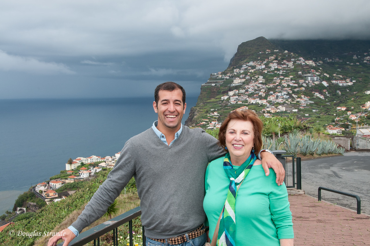 Island of Madeira - our driver Nelson with Louise