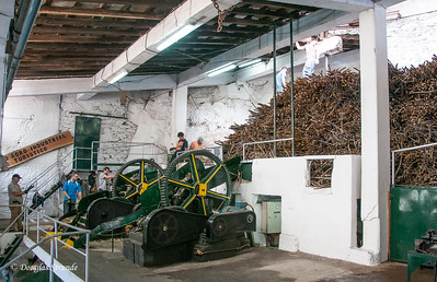Island of Madeira - sugarcane processing plant, squeezing out the juice