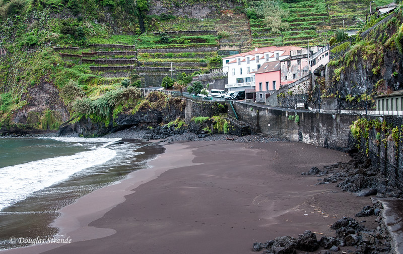 Island of Madeira - black-sand beach at our lunch stop, Brisa Mar Achada on the North coast