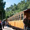 Doug boarding the wooden train en route to Soller, Mallorca