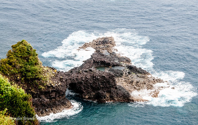 Island of Madeira - tidal pools in a lava formation near Sao Vicente