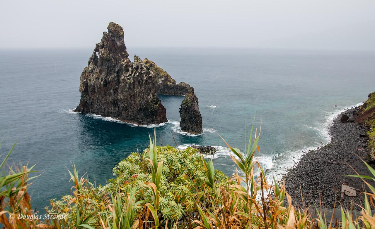 Island of Madeira - window rock on the North coast