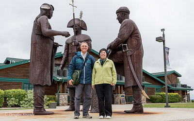 Doug & Louise with Lewis, Clark & Chief White Coyote