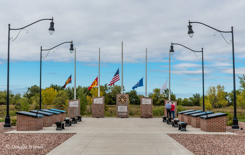 Commemorative Courtyard, Nebraska Firefighters Museum
