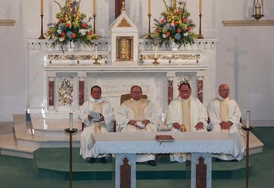 Fr. Bill Bartniski 50th Anniversary of Ordination; Holy Rosary Catholic Church; Rosenberg, TX; May 28, 2017.