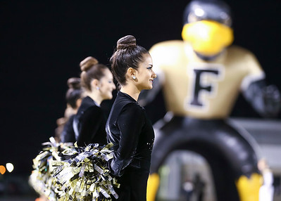 Foster Flair, Julia Gonzalez prior to the game. HS Playoff Football; Foster Falcons vs SA Brackenridge Eagles; Traylor Stadium; Rosenberg, Texas; Nov. 11, 2016. Copyright Taormina Photography.