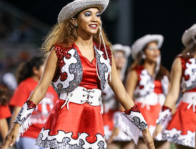 Terry Rangerette Madisen Thomas performs during halftime. HS Football; Lamar Mustangs vs B.F. Terry Rangers; Traylor Stadium; Rosenberg, Texas; Sept. 30, 2016. Copyright Taormina Photography.