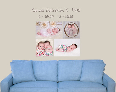 Canvas Wall Grouping 16x24 - 16x16