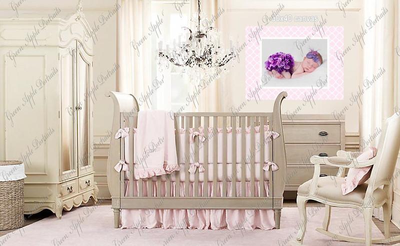 girl nursery canvas