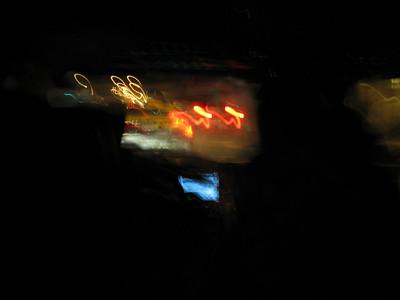 crazy cab shot