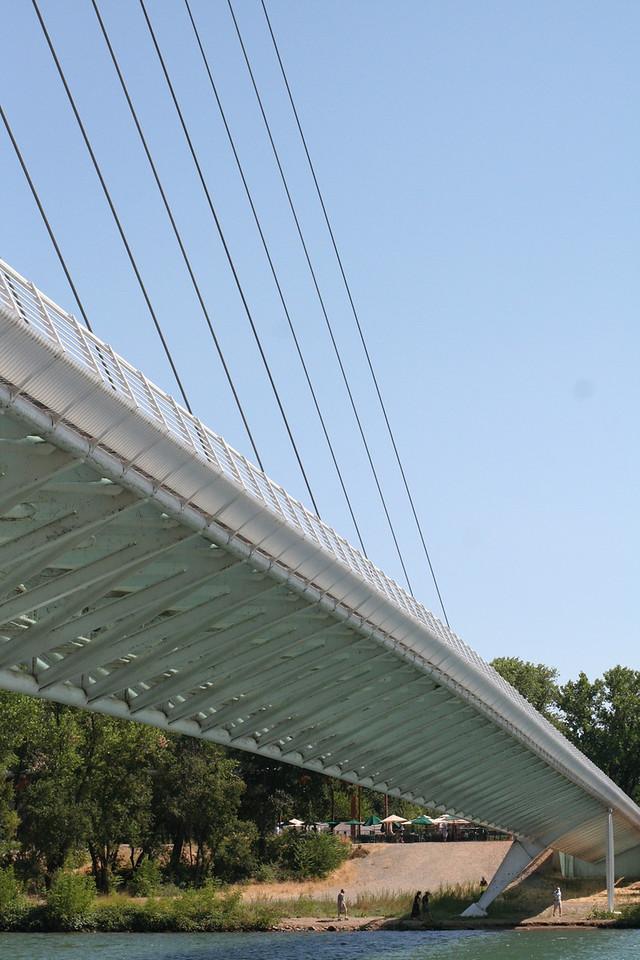 the bridge span