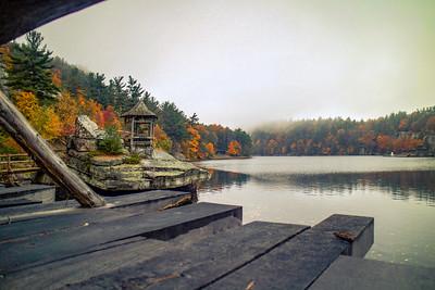 Mohonk Lake at Mohonk Mountain House, New York.
