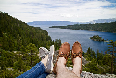 Playing footsies with a view.  Thank you, Sperry.