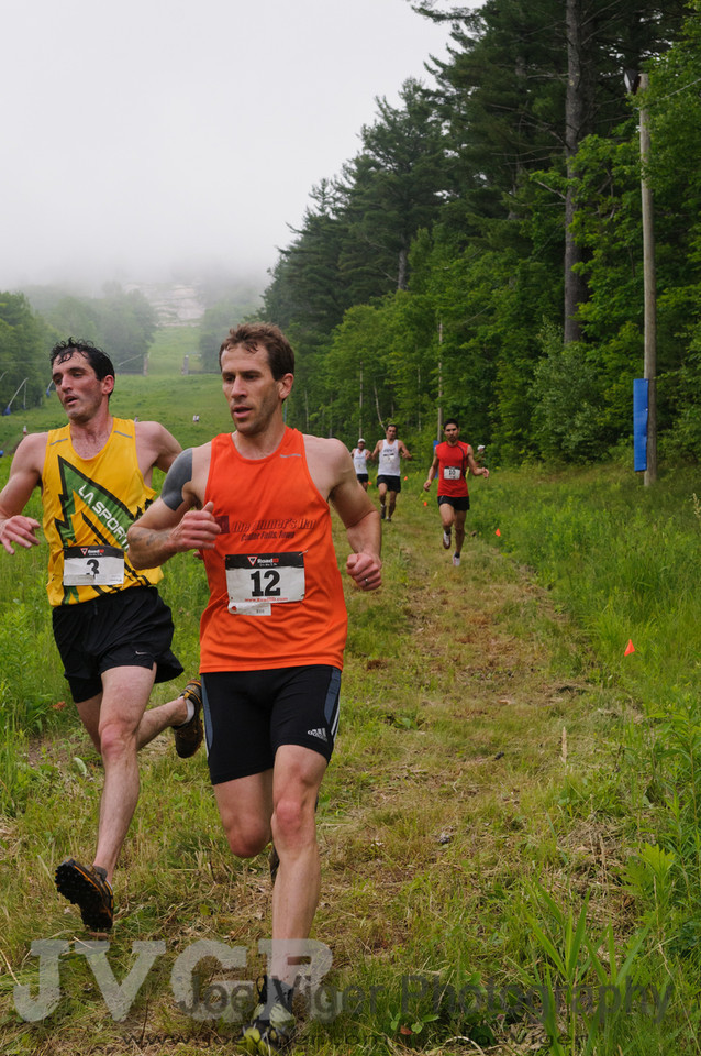Scott Gall leads Matt Byrne on the first lap<br /> <br /> CranmoreHillClimb2011-18-2
