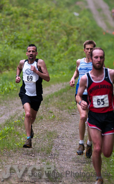 2011 USATF New England Trail Running Championship Northfield Mountain, MA<br /> Dave Dunham, Race Director with bib 69