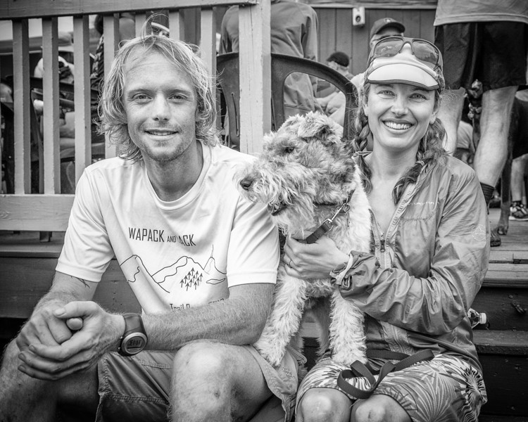 Ryan Welts, Jack Puppy & Kristina Folcik-Welts 2013 Cranmore Hill Climb