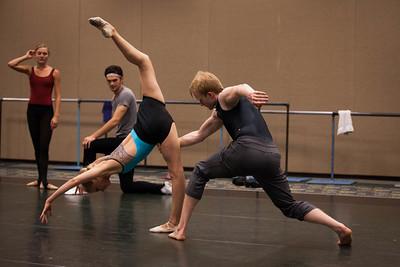 Ballet West's Haley Henderson Smith & Adrian Fry rehearsing PETITE MORT by Jiri Kylian