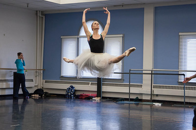 Ballet West's Haley Henderson Smith rehearsing CINDERELLA by Sir Frederick Ashton