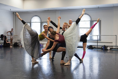 Ballet West dancers rehearsing EMERALDS by George Balanchine ©The George Balanchine Trust