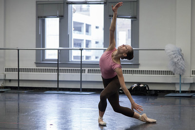 Ballet West's Katherine Lawrence rehearsing BUT NEVER DOUBT I LOVE by Helen Pickett