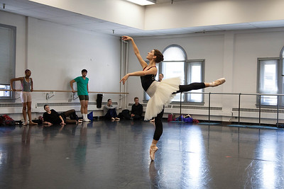 Ballet West's Beckanne Sisk rehearsing PAQUITA by Marius Petipa