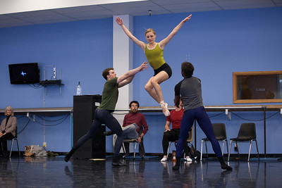 Ballet West's Amy Potter, Tyler Gum & Joshua Whitehead rehearsing TRAPPED by Christopher Ruud