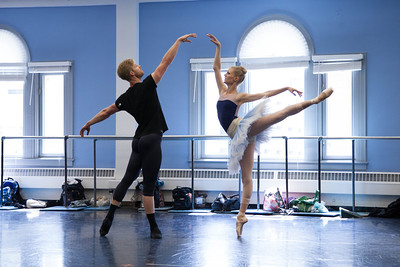 Ballet West's Haley Henderson Smith & Easton Smith rehearsing DIAMONDS by George Balanchine ©The George Balanchine Trust