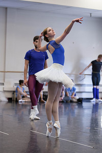Ballet West's Elizabeth McGrath rehearsing DIAMONDS by George Balanchine ©The George Balanchine Trust