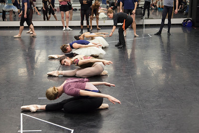 Ballet West dancers with Wendy Ellis Somes rehearsing CINDERELLA by Sir Frederick Ashton