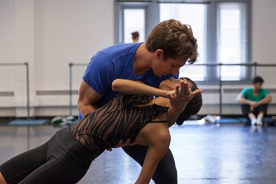 Ballet West's Sayaka Ohtaki & Christopher Ruud rehearsing BUT NEVER DOUBT I LOVE by Helen Pickett