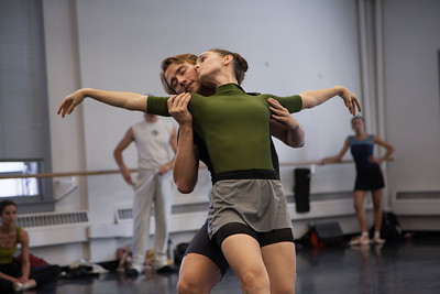 Ballet West's Arolyn Williams & Christopher Sellars rehearsing BUT NEVER DOUBT I LOVE by Helen Pickett