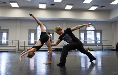Ballet West's Haley Henderson Smith & Easton Smith rehearsing PETITE MORT by Jiri Kylian