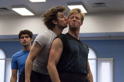 Ballet West's Christopher Ruud & Easton Smith rehearsing CINDERELLA by Sir Frederick Ashton