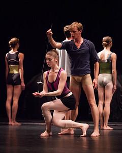 Ballet West's Emily Adams & Alexander MacFarlan rehearsing PETITE MORT by Jiri Kylian