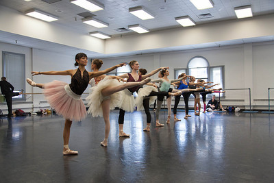 Ballet West dancers rehearsing PAQUITA by Marius Petipa