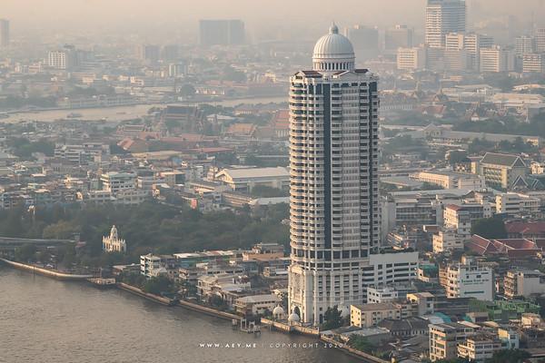 Bangkok view from Banyan Tree Residences Riverside