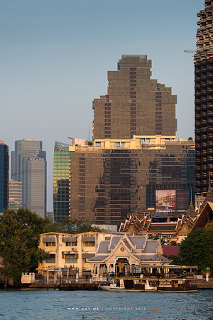 Bangkok and the Skyline of Sathorn by Chao Phraya River