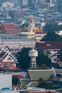 Bangkok view from Juldis River Apartment