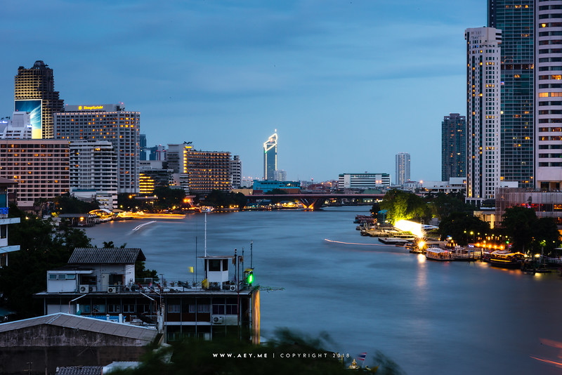 Bangkok and Chao Phraya River view from the River Vibe