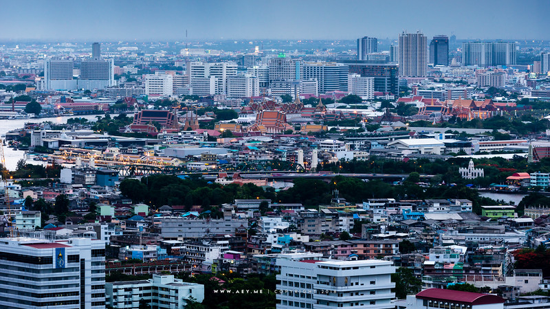 Bangkok view from the River Condominium