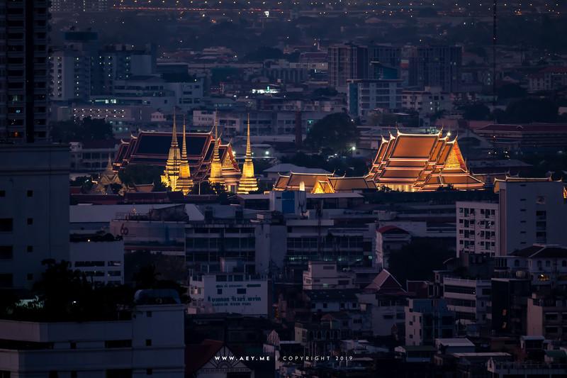Twilight at Wat Pho & Koh Rattanakosin